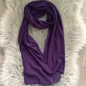 Zara purple scarf